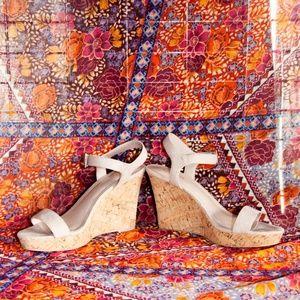Women's, Faux Suede, Cork Wedge Sandal